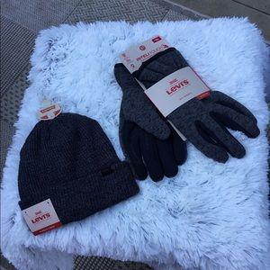 🎈Levi Men's gloves and beanie set